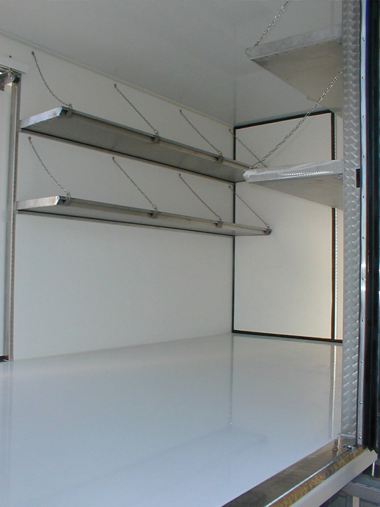 Stainless steel folding shelves